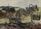 Пластов Аркадий Александрович: Лошадь с бочкой.