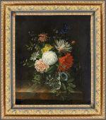 Немецкая живопись: «Цветы в стеклянной вазе»