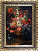 Фламандская живопись: «Цветы в бронзовой вазе»