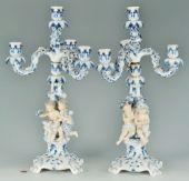 Мейсен /Meissen/ мануфактура: Пара фигуральных канделябров «ЧЕТЫРЕ СЕЗОНА»